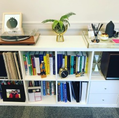 Vinyl, books, and scents.
